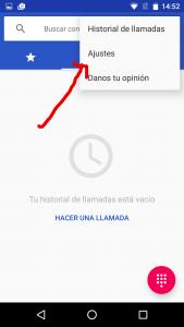Desplegar menu app telefono