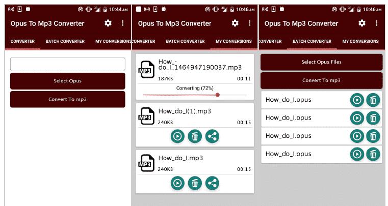 Conversión mp3 whatsapp app aplicaciones android
