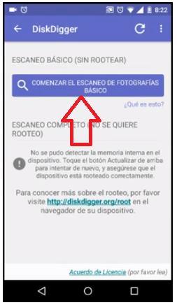 DiskDigger recupera imágenes en android 2