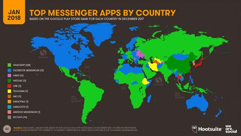 Estadísticas mundiales de estafas en Whatsapp