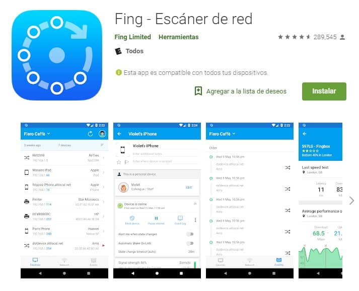 Fing scanner de red