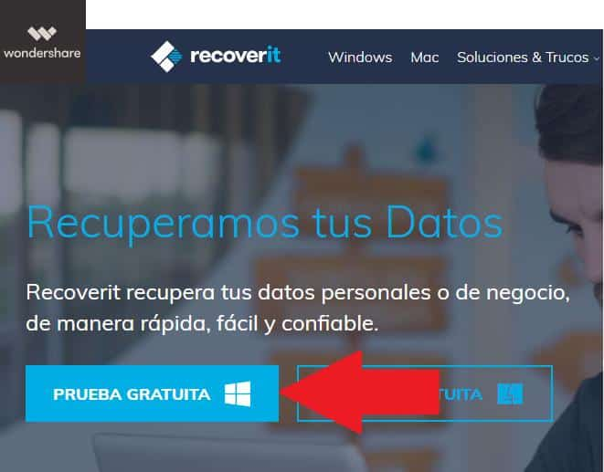Recoverit-Wondershare recupera fotos eliminadas en windows