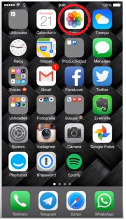 recupera imágenes borradas en iphone