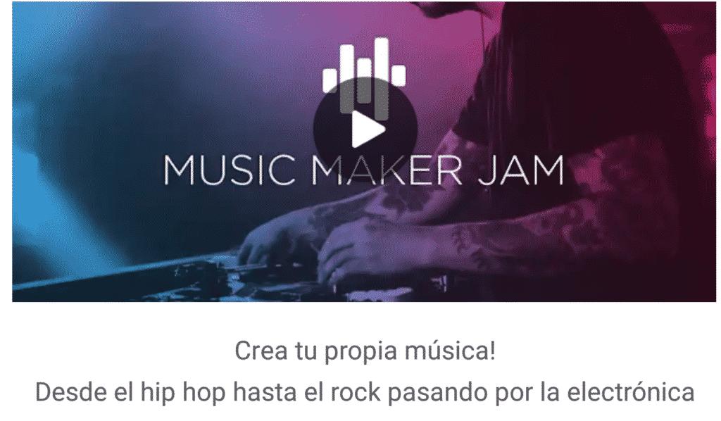 Music Maker JAM: Edicion de audio en android