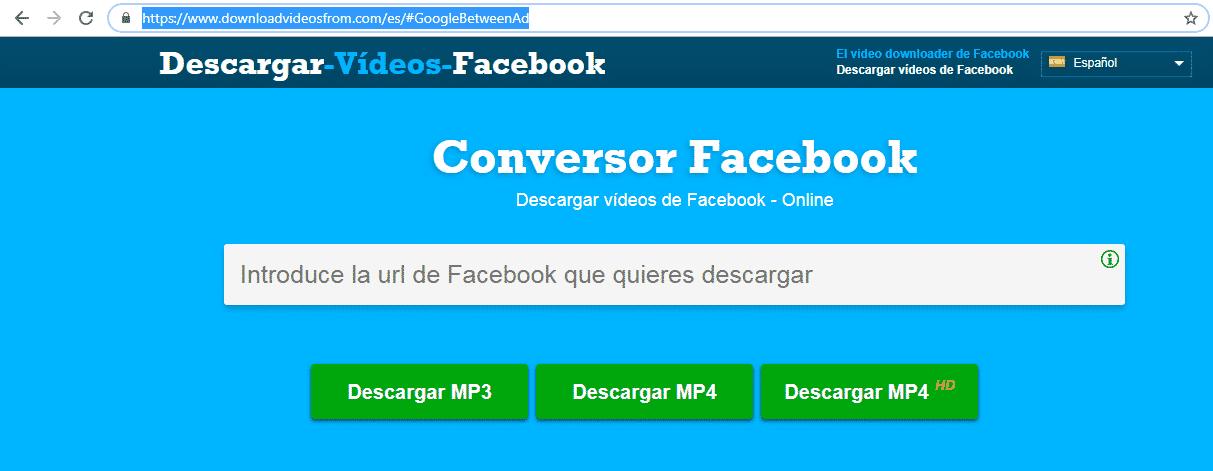 convertidor online de videos de facebook