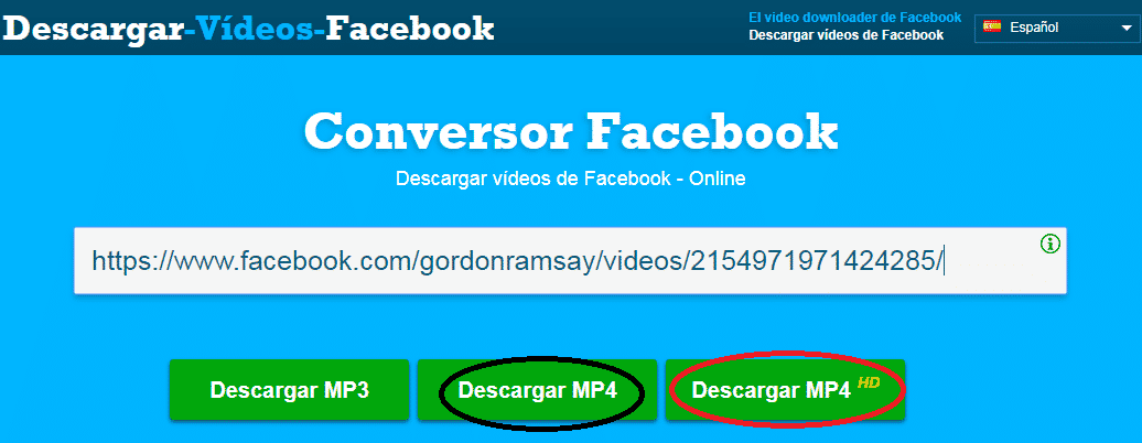 descargar videos facebook en mp4