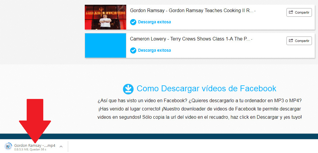descargar videos de facebook al pc