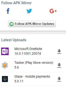 APKMIRROR alternativa a google play store