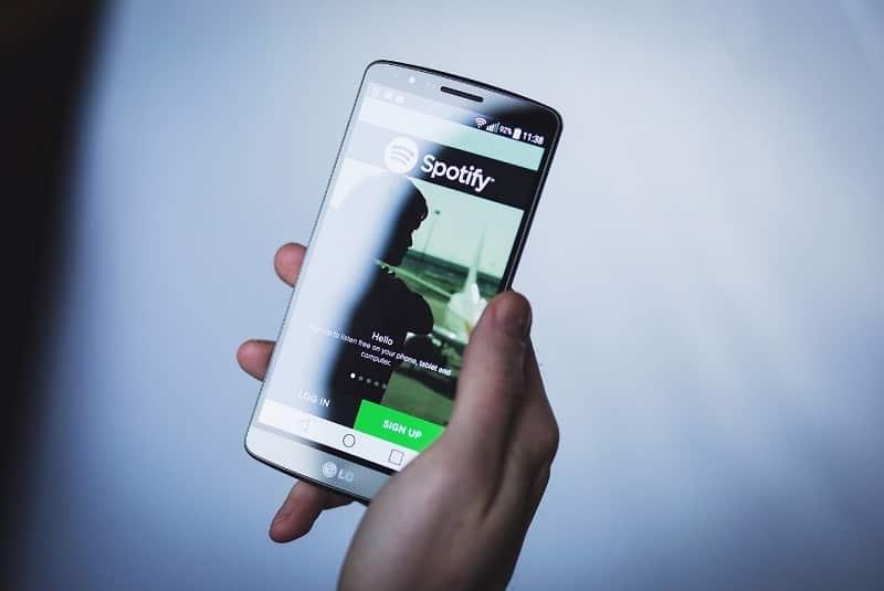 android teléfono spotify app aplicaciones escuchas spotify