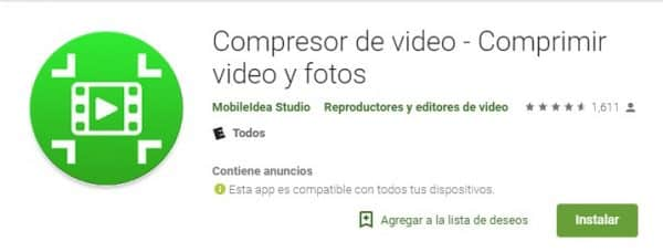 Compresor de video - Comprimir videos y fotos