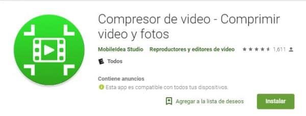 Compresor de video - Comprimir videos y fotos