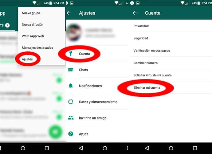 cuenta de whatsapp código pin punk contraseña seguridad eliminar cuenta