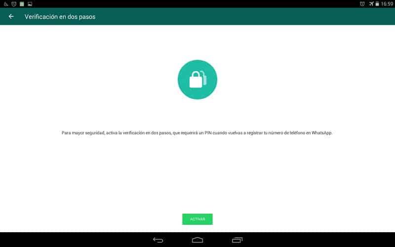 cuenta de whatsapp pasos verificación app aplicación Android