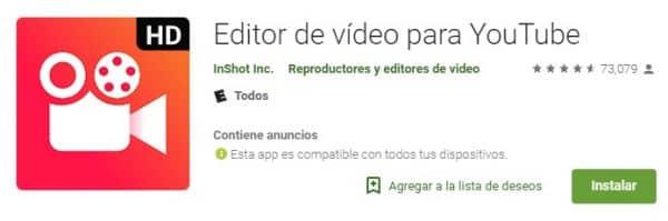 Editor de vídeo para YouTube