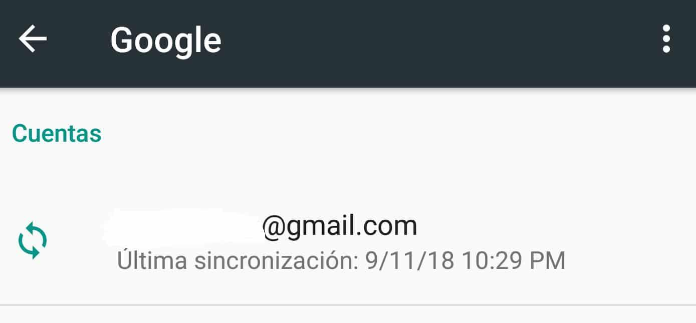 configurar cuenta de gmail