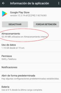 borrar datos de google play store