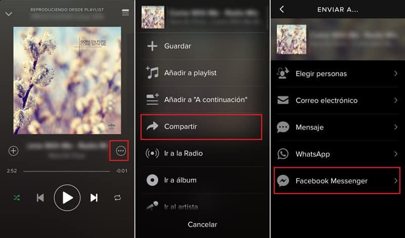 Spotify compartir música reproducción app aplicaciones