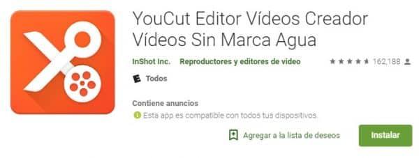 YouCut Editor Vídeos Creador Vídeos Sin Marca Agua