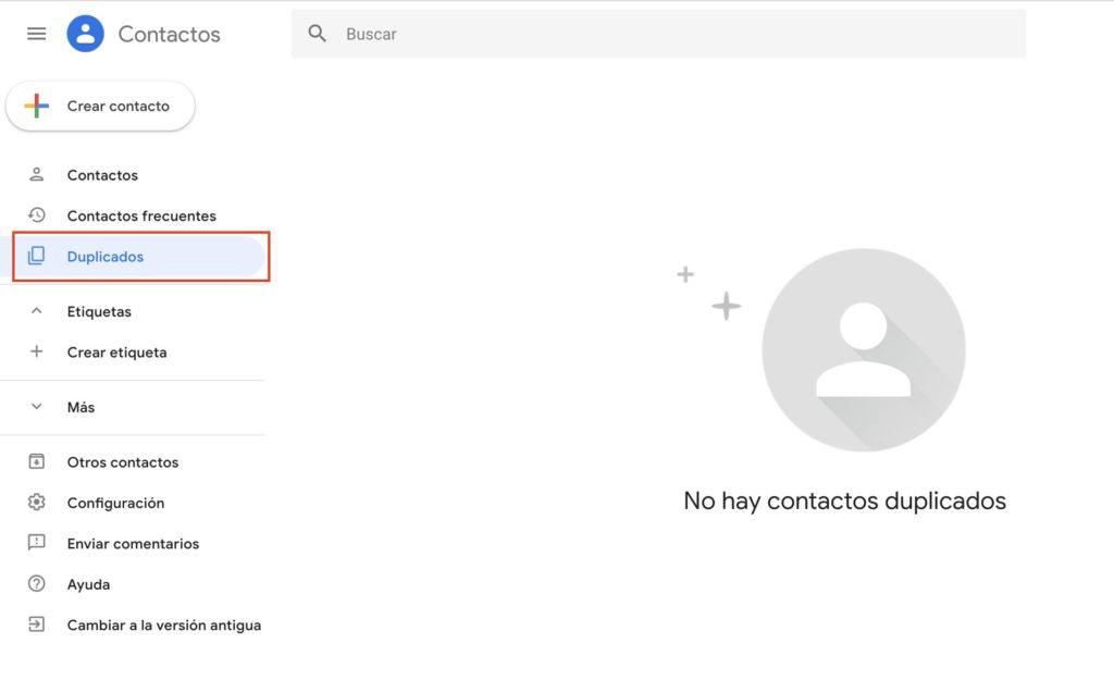 eliminar contactos duplicados desde gmail