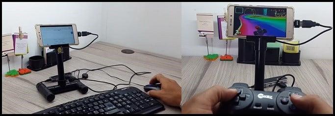 OTG teclado y mouse