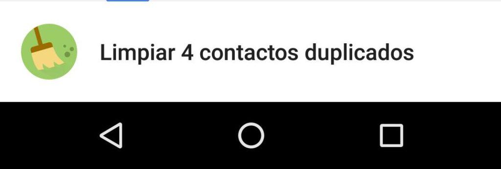 fusionar combinar contactos duplicados en android