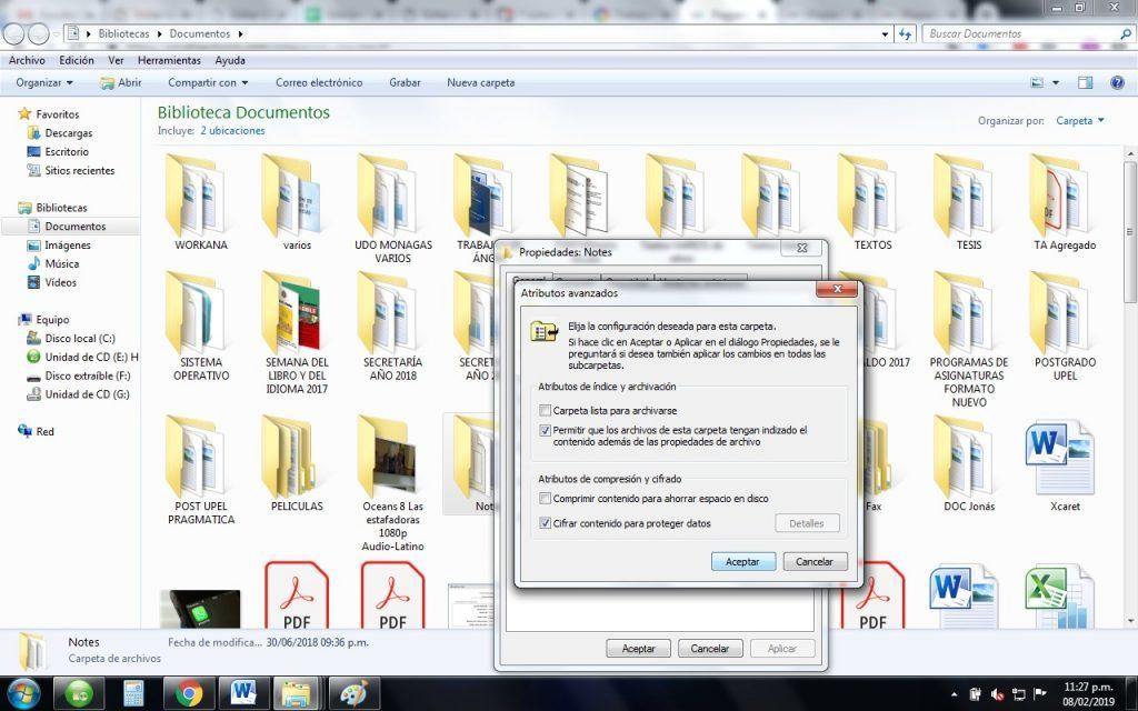 Como cifrar carpetas y archivos en windows
