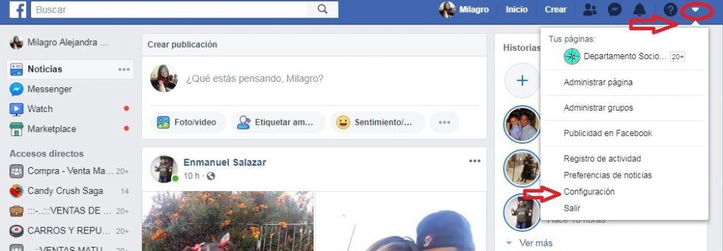 ¿Cómo iniciar sesión en Facebook haciendo clic en la foto de perfil? Paso 1