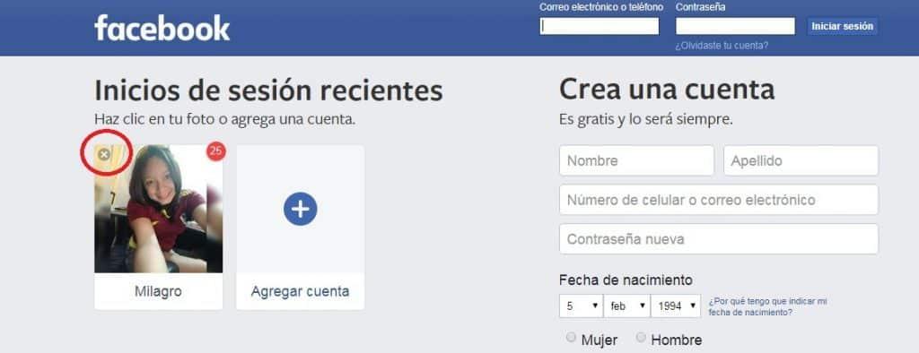 ¿Cómo iniciar sesión en Facebook haciendo clic en la foto de perfil? Paso 5