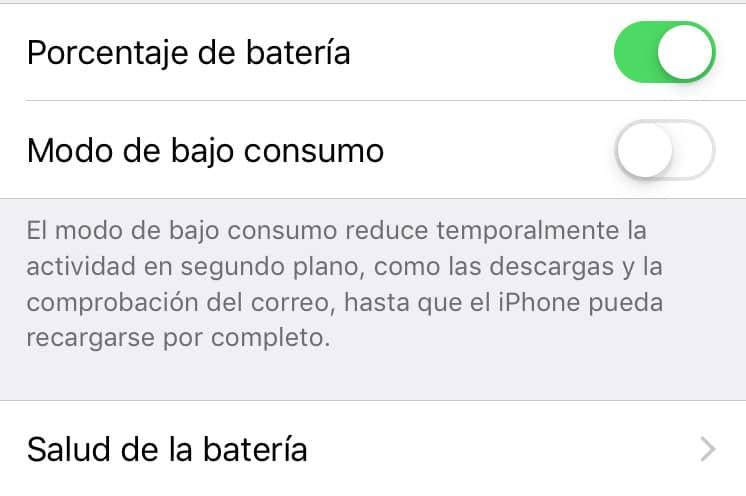 calibrar bateria de un iPhone o iPad