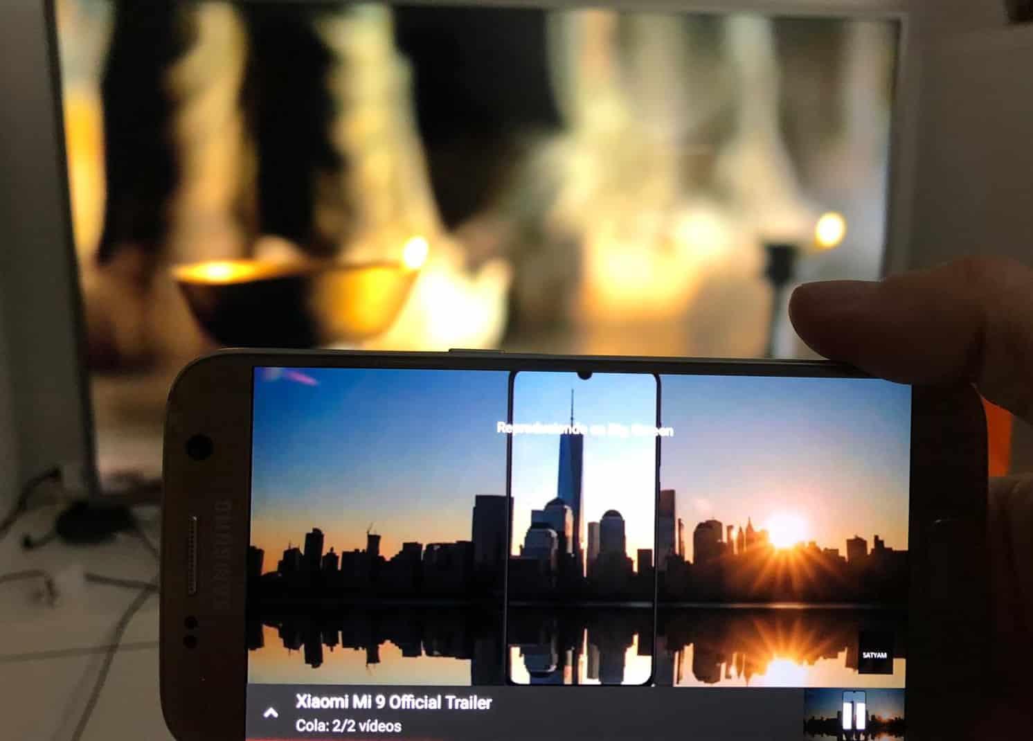 duplicar smartphone en pantalla de tv o smartphone