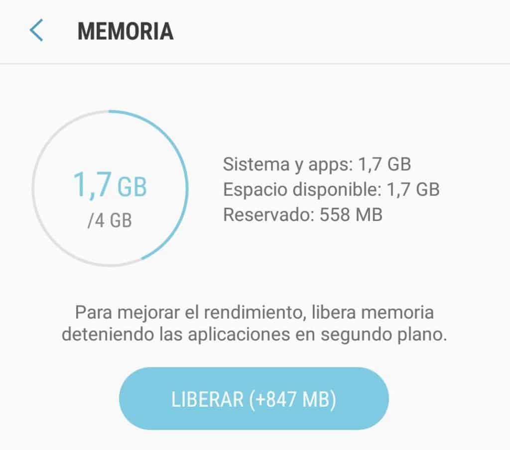 liberar memoria celular lento