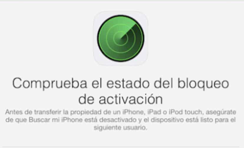 bloqueo de activación de iphone