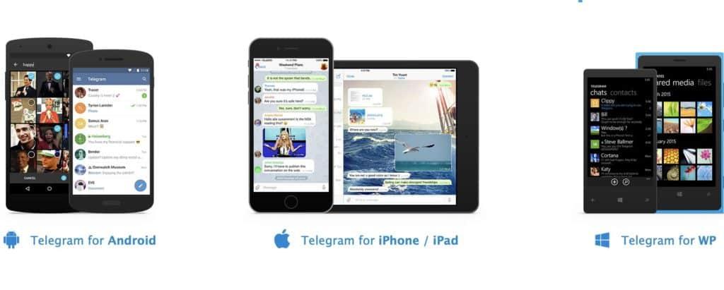 telegram para todas las plataformas