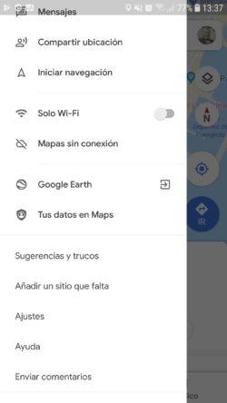 Activar velocimetro en Google Maps