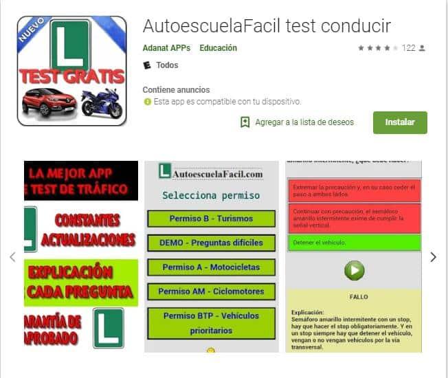Autoescuelafacil test conducir.