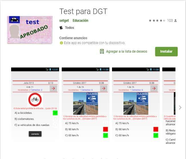 Test para DGT.