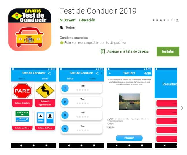 Test de Conducir 2019.