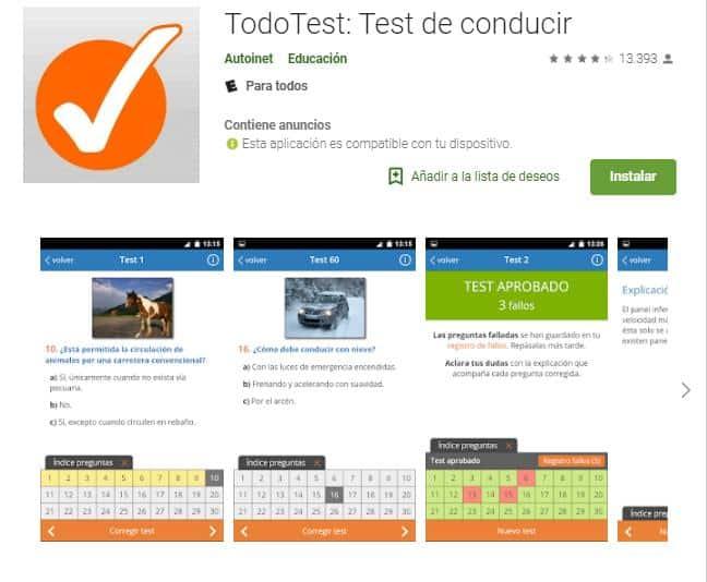 TodoTest: Test de Conducir, la mejor aplicación para estudiar desde el móvil.
