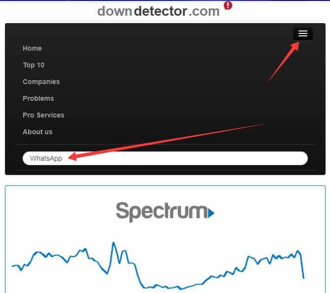 Whatsapp caido DownDetector
