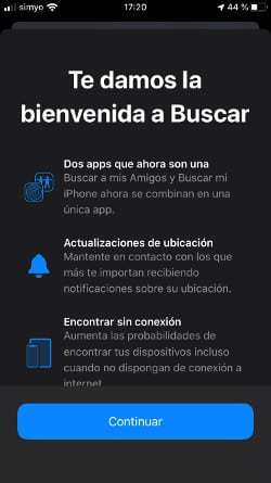 rastrear iPhone con find my