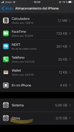 borrar datos de otros en iPhone o iPad