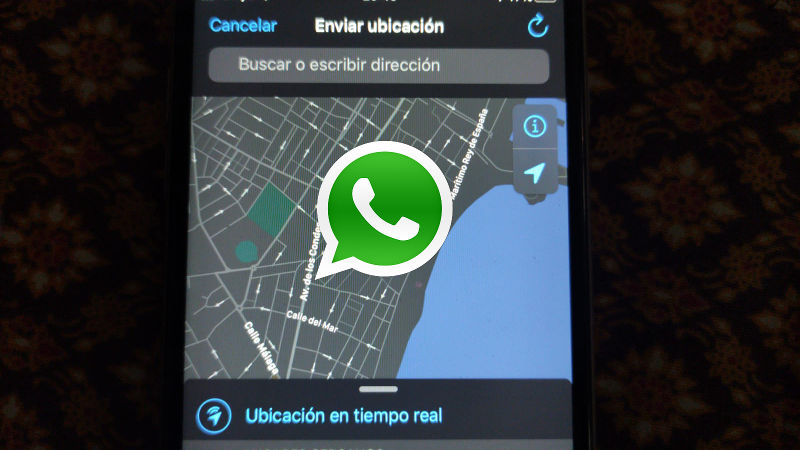 locate cell phone by sharing your location in whatsapp