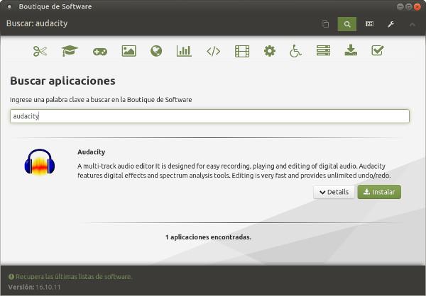 descargar audacity en linux
