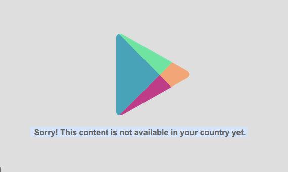 descarga app no disponible en tu pais