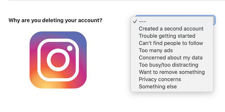 como borrar tu cuenta de instagram para siempre