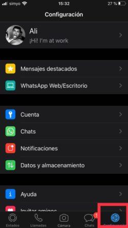configuracion de whatsapp en ios