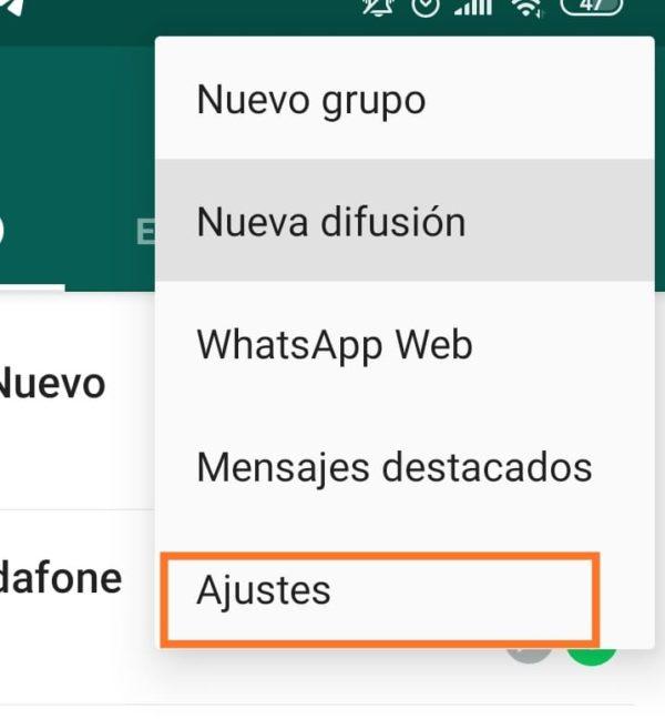 Ajustes whatsapp bloqueo por huella