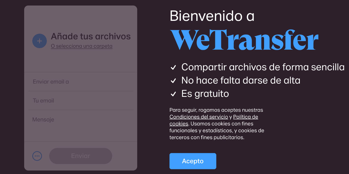 Como usar Wetransfer