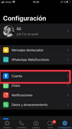 configuracion bloqueo dactilar whatsapp ios