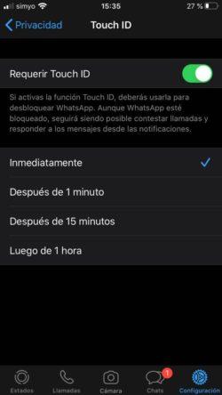 intervalo de tiempo en whatsapp